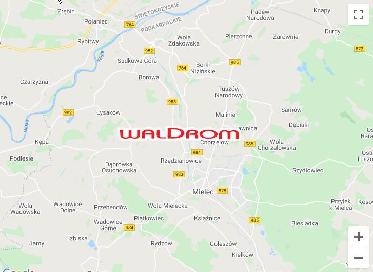 Waldrom mapa dojazdu